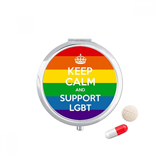 DIYthinker Rainbow Transgender Biseksuelen Vlag Illustratie Reizen Pocket Pill case Medicine Drug Storage Box Dispenser Mirror Gift