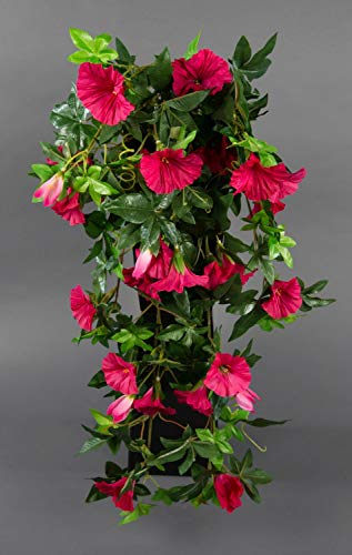 Seidenblumen Roß Petunienranke 65cm pink ZF Kunstpflanzen künstliche Petunie Pflanzen Blumen Kunstblumen Petunienhänger