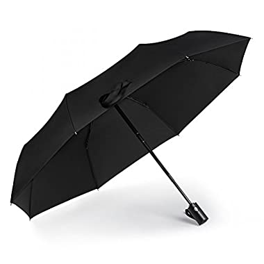 iCosow trade; Portable Automatic Travel Umbrella Anti UV Sunscreen Rain&Sunny Windproof For Men Women And Children