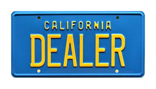 Celebrity Maschinen 80s Delorean Poster | California | Dealer | Metall Prägung Vanity License Plate