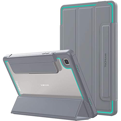 TECHGEAR Titan Case Designed For Samsung Galaxy Tab A7 10.4' 2020 (SM-T500 / SM-T505) Slim Shockproof Tough Rugged Protective Armour Smart Case + Stand, Kids Schools Builders Workman Case [Aqua]