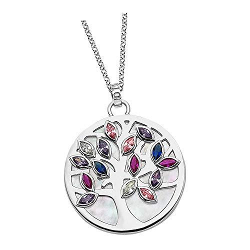 Lotus Silver Collar con colgante del árbol de la vida LP1891-1/1 con circonitas, plata 925 JLP1891-1