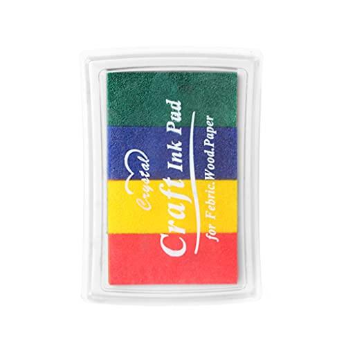 4 Color Eco-Friendly Ink Pads Kits Sistema DIY Craft Inkpad para el hogar fiesta decoración suministros verde/azul/rojo/amarillo