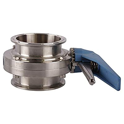 Butterfly Valve 5000   Tri Clamp 3 inch Trigger Handle - Stainless Steel SS304 / Silicone from Glacier Tanks