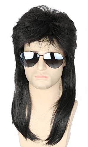 Topcosplay Mens Wigs Black Long 80s…