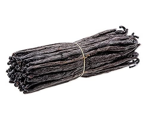 Baccelli di vaniglia del Madagascar - Baccelli di vaniglia Bourbon Planifolia di grado B per cucinare, cuocere al forno e preparare l'estratto di vaniglia - 10 Pezzi