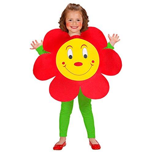 Amakando Blumenkostüm für Kinder Blümchen Kinderkostüm Blumenkleid Faschingskostüm Mädchen Faschingsoutfit Kind Süßes Kostüm Blume