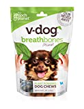 v-dog Breathbone Dog Chews, Minis, 8 Ounce