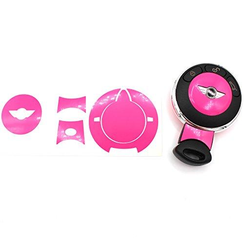 Schlüssel Folie MIA für 3 Tasten Auto Schlüssel Cover Folien Dekor Aufkleber (Neon Pink)