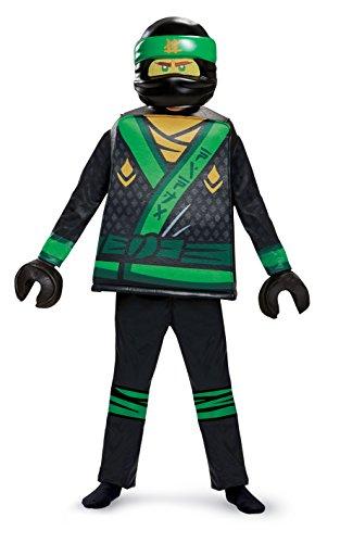 Disguise Lloyd Lego Ninjago Movie Deluxe Costume, Green, Medium (7-8)