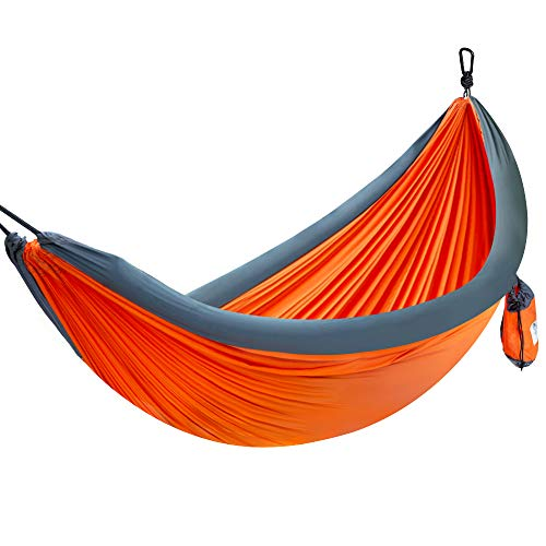 Forceatt 1-2 People Outdoor Camping Hammock with air Cushion, Portable, 210T high-Fiber Nylon Parachute Fabric, Maximum Load of 200 KG, Suitable for Camping, Hiking, Travel, Beach, Backyard