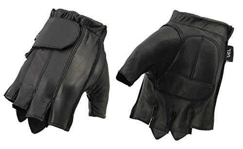 M Boss BOS37565 Herren-Handschuhe aus schwarzem Gel an der Handfläche - Schwarz - Small
