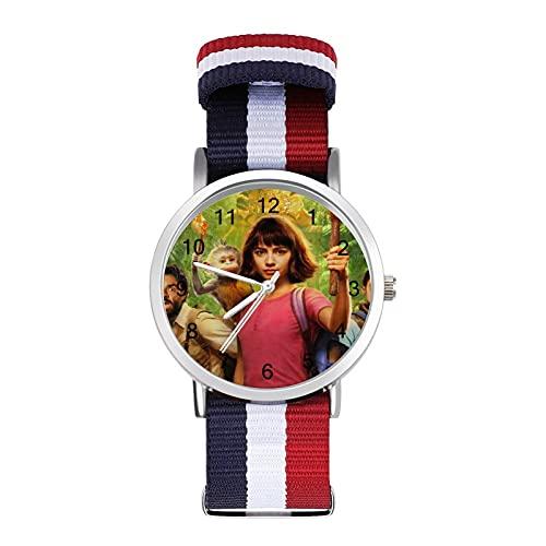 Dora The Explorer - Reloj de ocio para adultos, moderno, bonito y personalizado de aleación de concha casual para hombres y mujeres