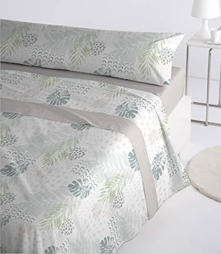 Juego de sábanas coralina de 220 Gr/m2 Extra Suaves y cálidas con 3 Piezas Mod. Elison (Beige, 105_x_190/200 cm)