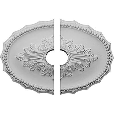 Ekena Millwork 16 7/8-Inch W x 11 3/4-Inch H x 1 1/2-Inch Oxford Ceiling Medallion