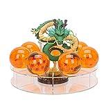 Mysika Resin Shenron Figure Dragon Shenlong Statue Set + 3.5cm Crystal Balls + Shelf with Gift Box for Business Halloween Christmas Holiday and Birthday Home Decoration