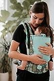 Baby Tula COAST CACTI Free to grow Portabebés de crecimiento libre, portabebés ajustable, portabebés para recién nacido, ergonómico y múltiples posiciones para 3,2-20,4 kg