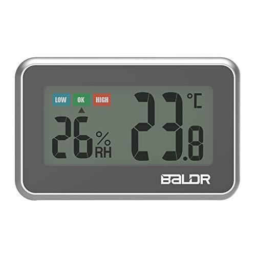 Donpow Thermometer voor koelkast en vriezer, mini LCD digitaal voor binnen, praktische thermometer hygrometer met opnamefunctie, max. /min wit blue