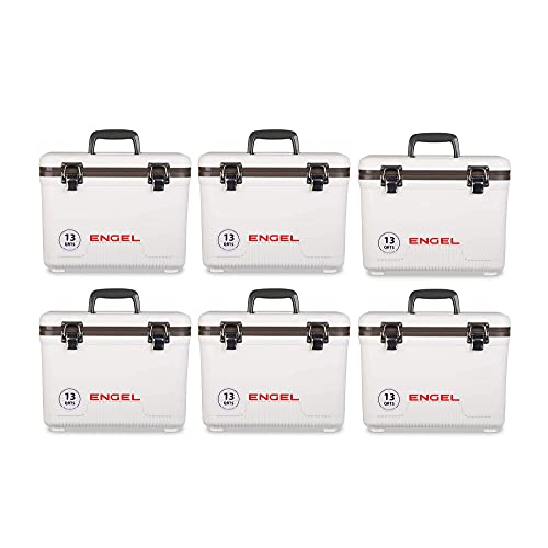 Engel High Performance 13 Quart Portable Rotomolded Airtight Hard Case Cooler Chest and Ice Box with...