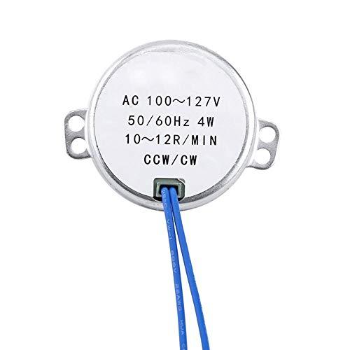 Motor de CA, Motor Síncrono, Motor Eléctrico Compuesto por Motor Síncrono de Imán Permanente y Engranajes Reductores, Adecuado para Mecanismo de Ventilación de Ventilador Eléctrico(10-12 RPM)