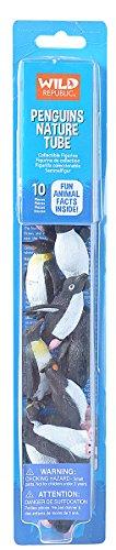 Wild Republic Penguin Figurines Tube, Penguin Toys, Emperor Penguin, Gentoo, Chinstrap, Adelie, Rockhopper And Swimming Penguins Ten Piece Set