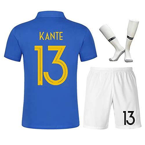 Fußball-Trikot der Fußball-Weltmeisterschaft, French Centennial Edition Nr. 10 Jungen-Fußballfan-Shirts, Sport-Fußball-Anzug-blue13-16