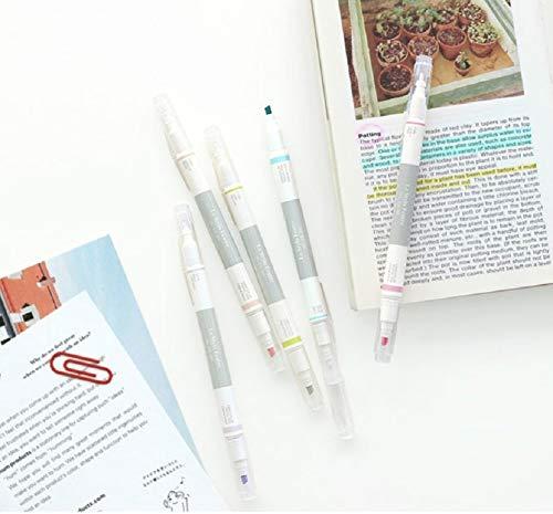 Juego de bolígrafos de doble cara Iconic en colores pastel.