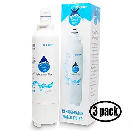 3unidades de repuesto LG lmxc24746s nevera filtro de agua–Compatible con LG lt800p, adq73613401cartucho de filtro de agua para frigorífico
