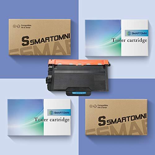 S SMARTOMNI 2PK 8000 High Yield Black Compatible TN850 TN-850 TN820 HL-L6200DW MFC-L5900DW Toner Cartridge for Brother HLL6200DW HL-L6200DWT HL-L5100DN L5200DW, MFCL5800DW L5900DW MFCL6700DW Printer