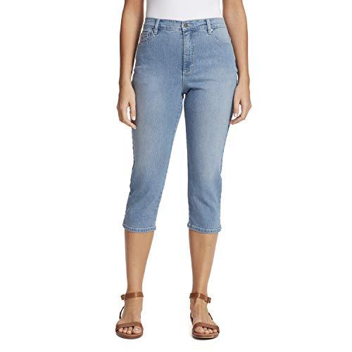 Gloria Vanderbilt Women's Amanda Capri Jeans, Blue, 10