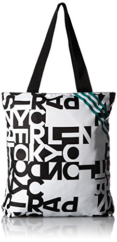 adidas Damen Stofftasche, weiß/schwarz, NS