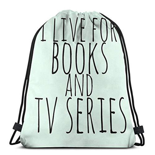 IUBBKI I For Books and TV Series Mochila Deportiva Plegable Impermeable Bolsa de Gimnasio Saco Mochila con cordón