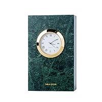 マンテル時計ローマ数字ダイヤル大理石素材サイレントムーブメント暖炉の時計リビングルーム、キッチン、オフィス&家の装飾(色:グレー)