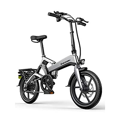 """zytyeu Electric Mountain Bike, Folding Bicycle Electric Bike for Adults Women, 250W Electric Bicycle 16"""" with 48V Man E-Bike for Commuter City Commuting Outdoor Cycling Travel Work Out"""