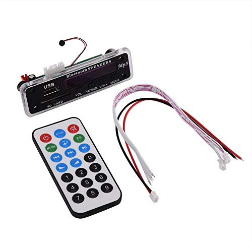 Tangxi Módulo decodificador de MP3 de 12V, USB/Bluetooth/Tarjeta SD/Radio FM Placa decodificadora WMA, Decodificador Bluetooth de Llamada Manos Libres con Control Remoto