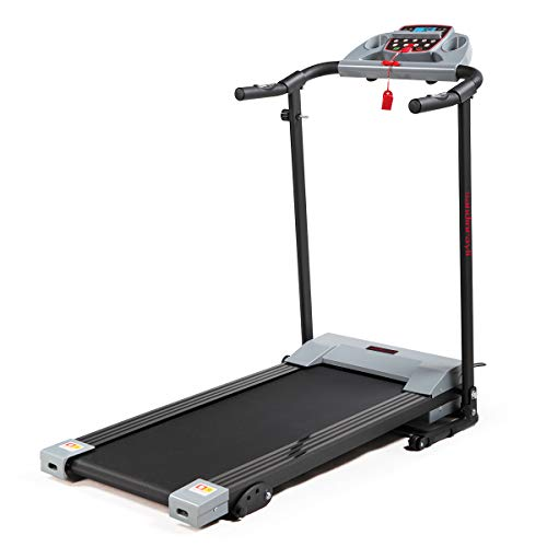 JAXPETY Folding Treadmill 2.0HP Electric Motorized Running Machine w/LCD Display, Drink...