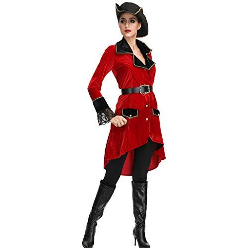COZOCO Lady Halloween Disfraz De Pirata Femenina Set Sexy Dress