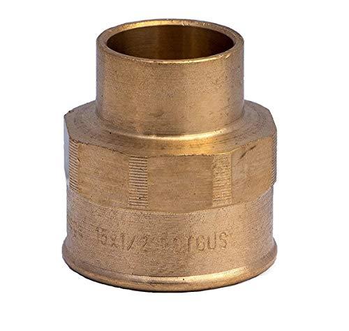 10 accesorios de latón para conexión de soldadura a tubos de cobre...