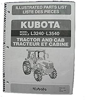 Illustrated Parts List for Kubota L3240 & L3540 HST Tractors w/ Cab.