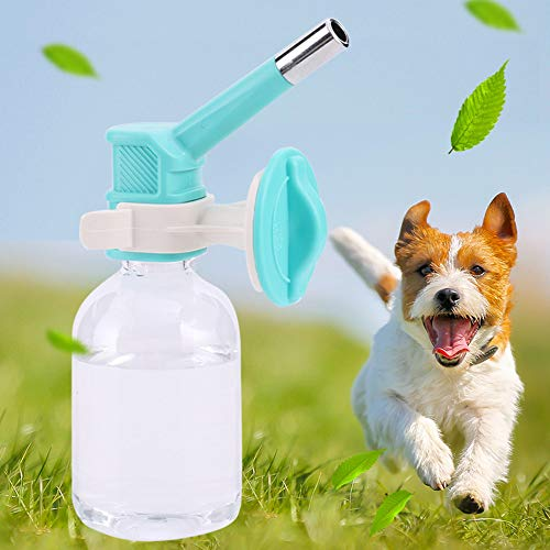 LSX Pet Drinking Fountain, Hanging Drinking Device Without drip Bottle for Dog, Kettle, Water Bottle, Dog Water Bottle - Blue