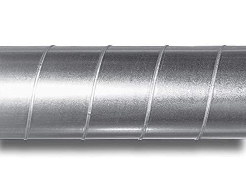 Tubo de acero galvanizado para ventilación (200 mm de diámetro, 1 m de largo)