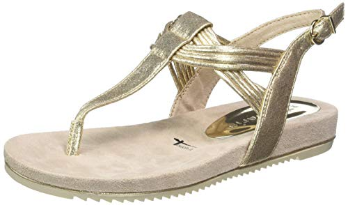 Tamaris Damen 1-1-28107-22 Riemchensandalen, Gold (LIGHT GOLD 909), 39 EU