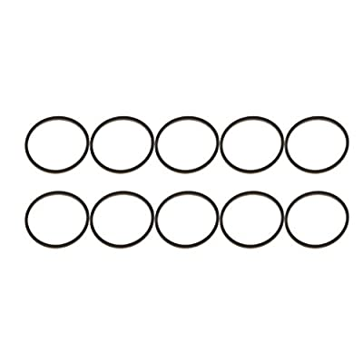 10 Pieces Rubber Ring Square Type Drive Motor Belts for XBOX 360 DVD Drive Replacement Part Repair Stuck Tray - Black
