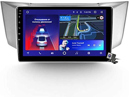 FDGBCF Android 9.1 Radio de navegación GPS para automóvil para Lexus RX300 330350 2003-2009 con Pantalla táctil de 9 Pulgadas Soporte WiFi FM Am RDS/DSP MP5 Player/BT Steering Wheel Control