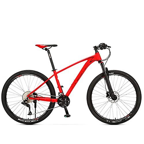 KJWXSGMM Mountainbike, 26-Zoll-27,5-Zoll-29-Zoll-Räder, 33 Geschwindigkeitsöl-Scheiben-Bremse Aluminium-Rahmen, Outdoor-Rennrad für Männer Frauen,A,29 inches