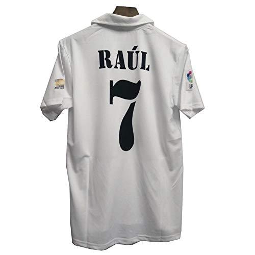 MFFZHJ 2005/06 Spieler Trikots Für Raúl 7 Figo 10 Fußballtrikot, Schnell Trocknende Anzug T-Shirt #7-L