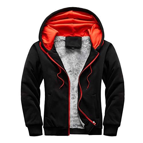 BIBOKAOKE Veste de sport pour homme - Pour le cyclisme et l'alpinisme - Avec capuche - En polaire chaude - Rétro - Veste de sport légère - Veste de baseball, Noir6., XXXXL