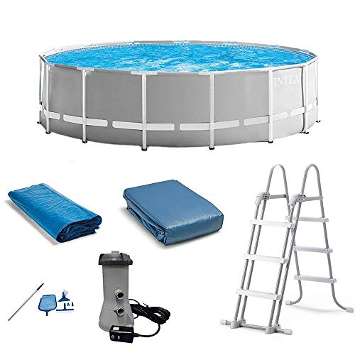 Intex 15ft x 48in Prism Swimming Pool Set w/Ladder, Cover and Maintenance Kit