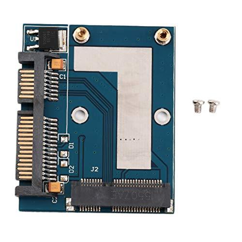 Nur Formular Conversion-Schnittstelle Mini-PCI-e MSATA um 2.5 SATA Adapter-Konverter-Karten-Modul Blue-Board 57x46mm / 2.24x1.81 (Farbe: blau)