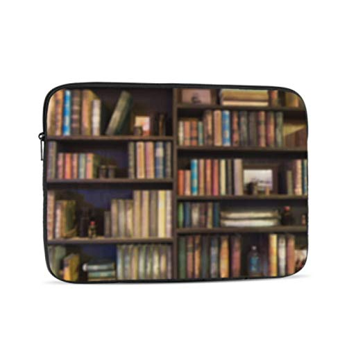 Computer Case Many Old Books On Bookshelf in Library MacBook Pro A1708 Case Multi-Color & Size Choices10/12/13/15/17 Inch Computer Tablet Briefcase Carrying Bag